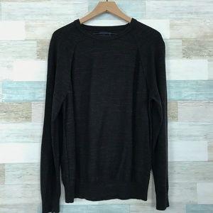 Cotton Crewneck Sweater Charcoal Gray J Crew